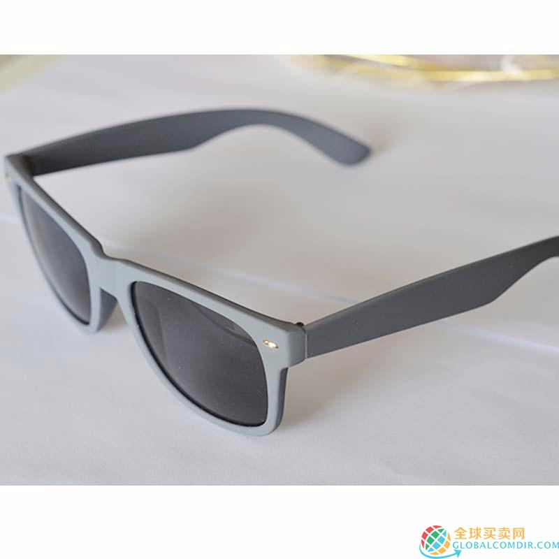 Custom Gray Sunglasses With Company LOGO