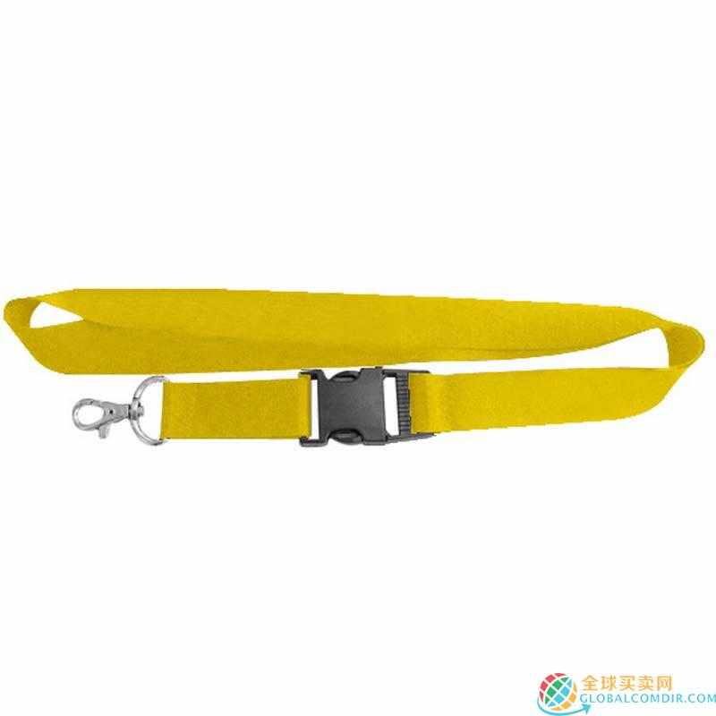 Custom Yellow  Lanyard with LOGO