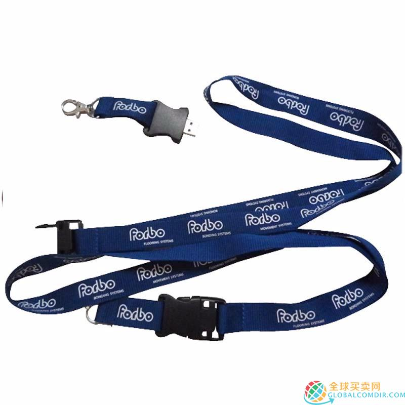 Custom Blue Lanyard with Your LOGO