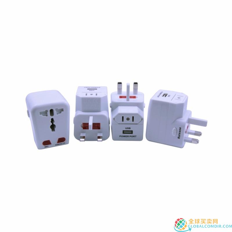 White Universal Travel Adapter Factory