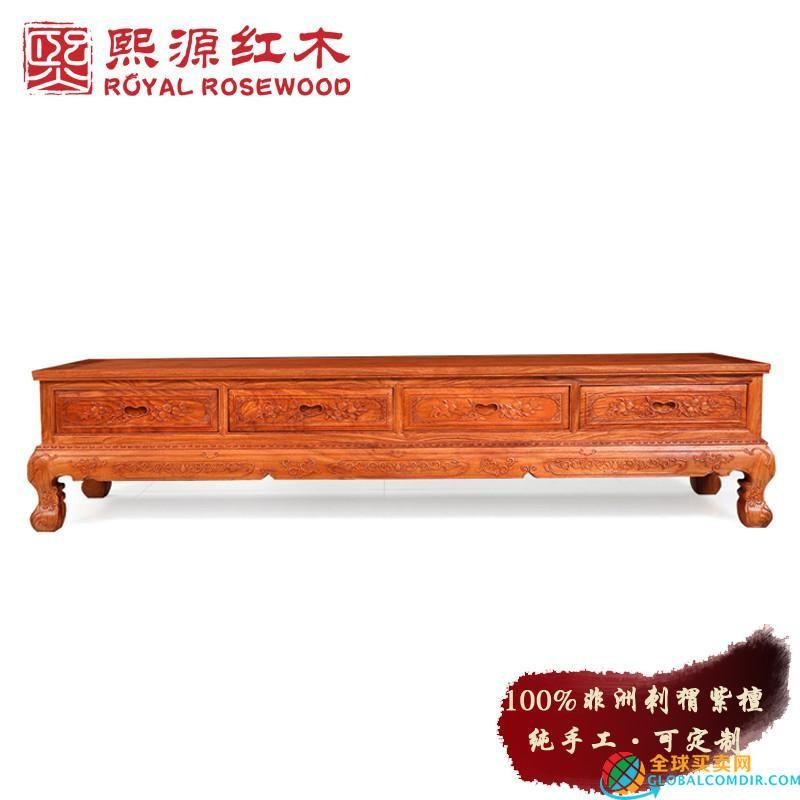 Zhongshan RoseWood-Chinese Carved TV cabinet 2 meters