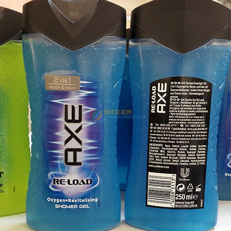 Axe Re-Load活氧能量洗发沐浴二合一 250ml  DeRuiBuy跨境电商