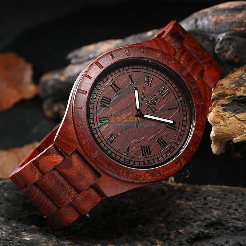 WoodWatch002 Red Sandal Wood Watch for Men