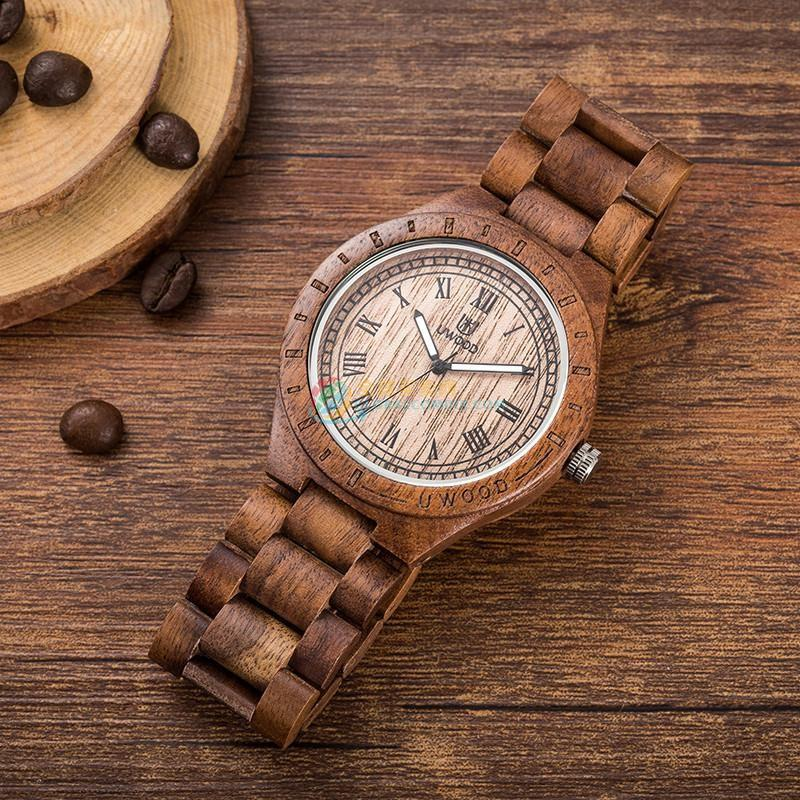 WoodWatch003 Natural Walnut Wood Watch for Men