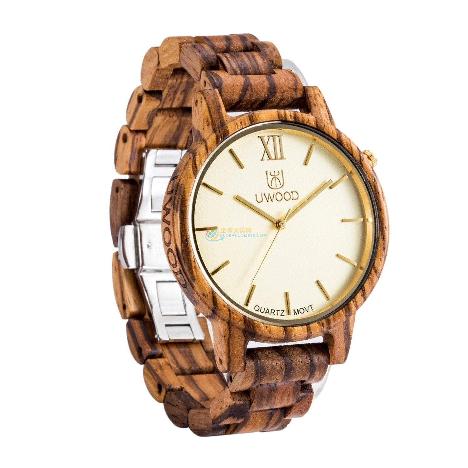 WoodWatch007 Zebra Wood Watch for Men - Super Slim