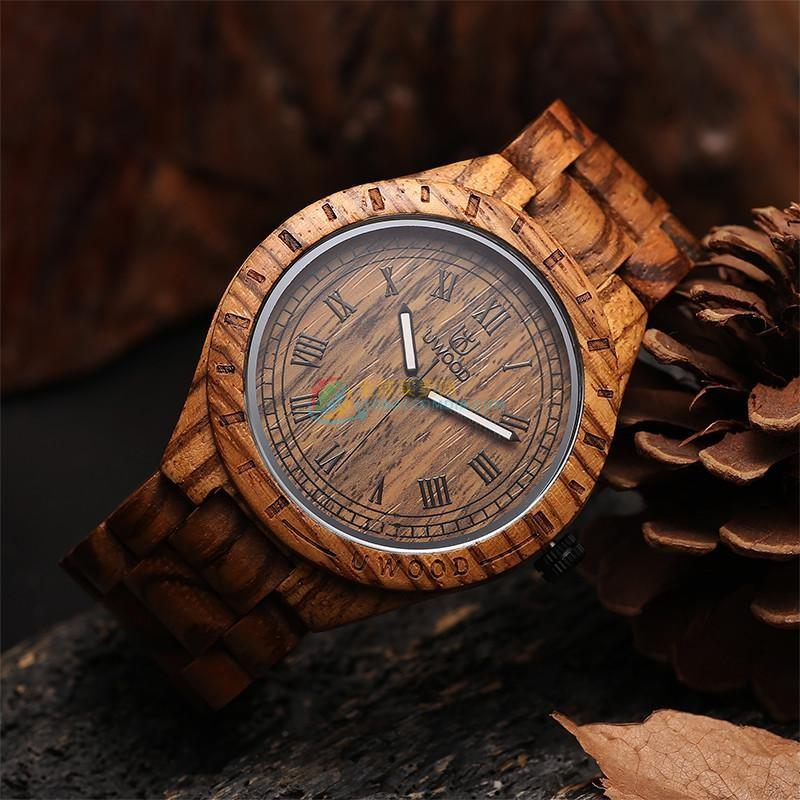 WoodWatch004 Zebra Wood Men's Wooden Watch