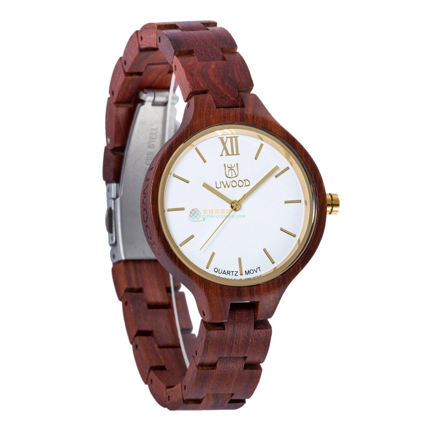 WoodWatch009 Red Sandal Wood Watch for Women