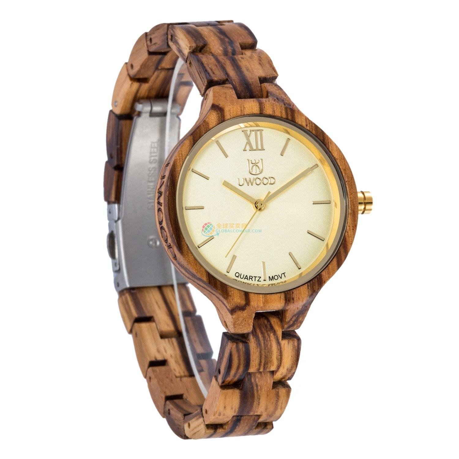 WoodWatch010 Zebra Wood Watch for Women