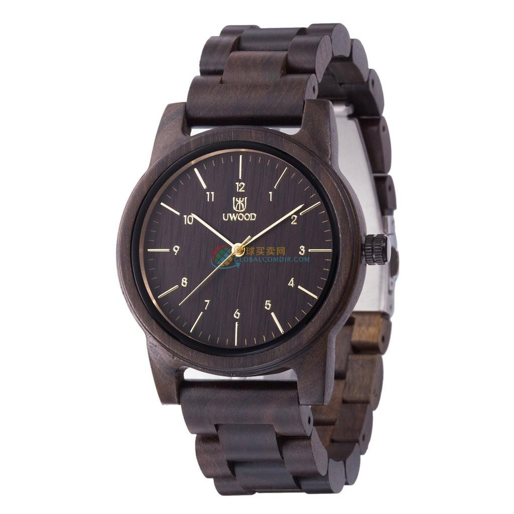 WoodWatch010 Black Sandal Wood Watch for Men