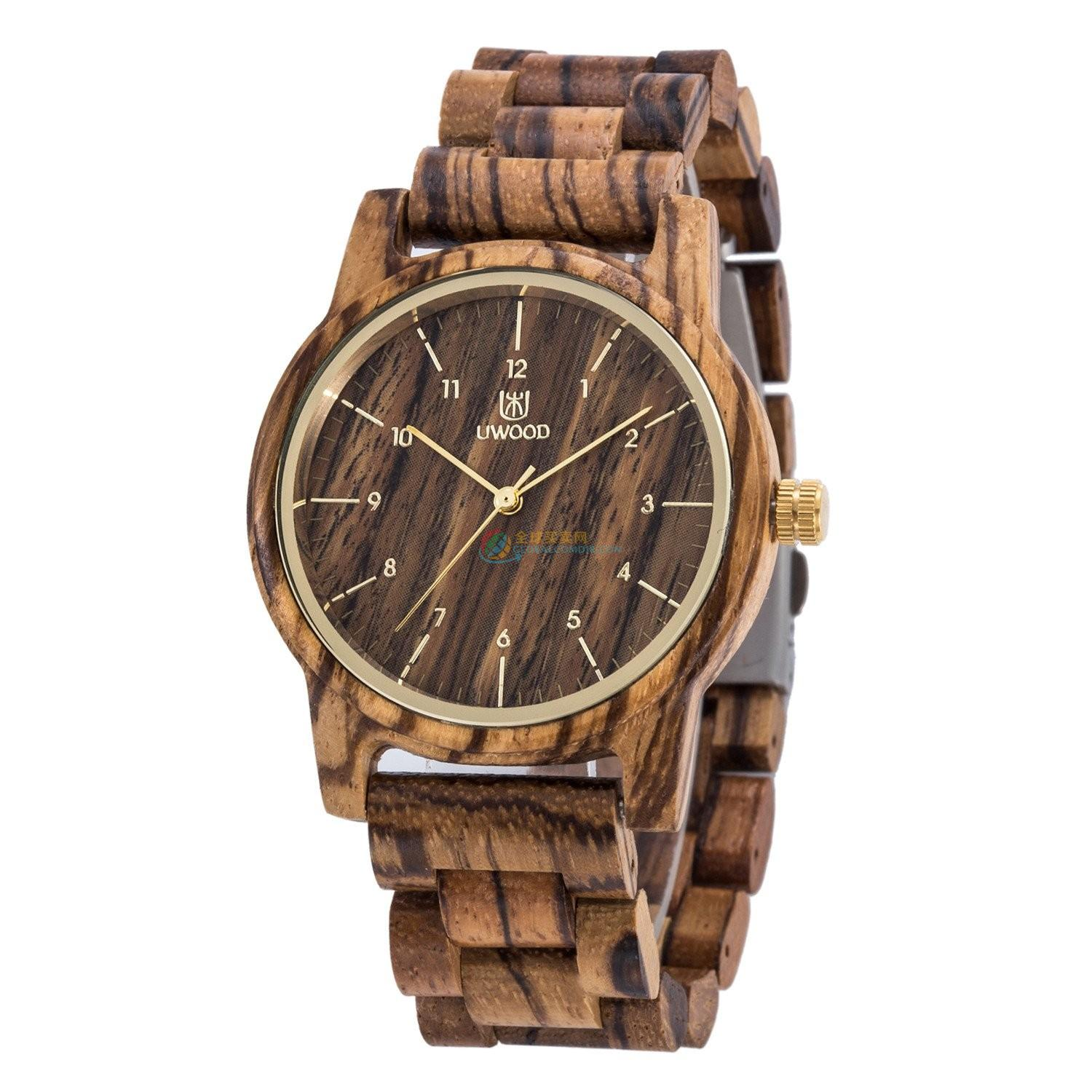 WoodWatch012 Zebra Wood Watch for Men